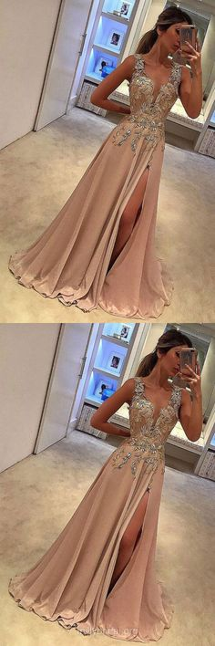 Unique v neck lace applique long prom dress, evening dress V-neck Evening Dresses Evening Dresses Lace Evening Dresses Long Prom Dresses Prom Dress Unique Prom Dresses Long V Neck Prom Dresses, Unique Prom Dresses, Long Prom Gowns, A Line Prom Dresses, Dress Prom, Dress Wedding, Long Dresses, Champagne Prom Dresses, Prom Dresses For Teens Long