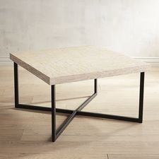 Mother-of-Pearl Square Coffee Table Clearance $183