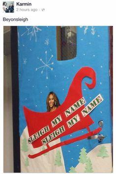 Grinch door decor   Christmas   Pinterest   Christmas ...