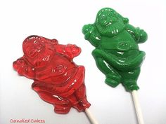 Buy 6 Get 6 Free  SANTA LOLLIPOPS  Any Color and by CandiedCakes, $9.99