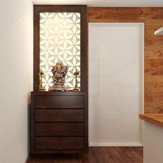 20 best Mandir design ideas in Indian contemporary house Pooja rooms or mandir o. Pooja Room Door Design, Bedroom Door Design, Foyer Design, Gate Design, Living Room Designs, Living Room Decor, Living Rooms, Temple Design For Home, Mandir Design