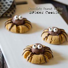 Des cookies araignées à croquer