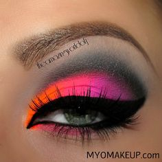 Neon Cut Crease!! @ theamazingworldofj