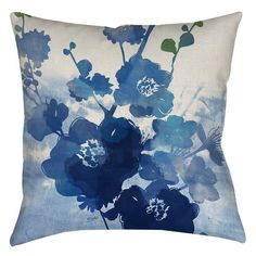 Features:  -Streams of Blues collection.  -Material: 100% Polyester.  -Spot clean only.  -Made in the USA.  -Overall Product: 1 - 2.25 lbs.  Product Type: -Euro/Throw pillow.  Cover Material: -Polyest