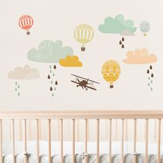 Up, Up & Away Fabric Wall Decals. #laylagrayce #walldecal #pastel