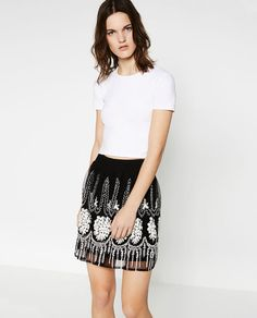 Image 2 of EMBROIDERED SKIRT from Zara