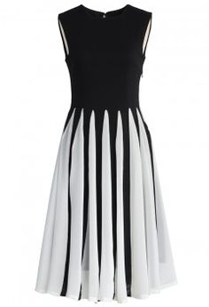 Swing Keyboard Pleated Crepe Dress - Retro, Indie and Unique Fashion - such prettiness