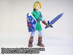 The Legend of Zelda adult Link papercraft