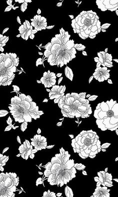 Floral Black and White iPhone background