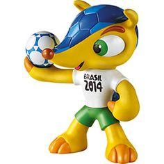 Mascote da Copa Fuleco - 22cm - GrowTEM A CARA DO JOSEFH BLATER O PRESIDENTE DA FIFA,Padrao fuleco
