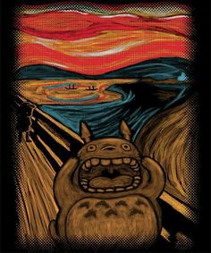 "Totoro in Edvard Munch's ""The Scream""... that's a new one!"