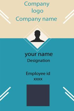 ID Card twentythree Front Id Card Template, Free Business Card Templates, Free Business Cards, Identity Card Design, Quotation Format, Free Id, Cover Pages, Company Names, Newspaper