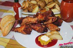 Alitas de pollo marinadas con cerveza y especias. ¡Verás qué buenas están!