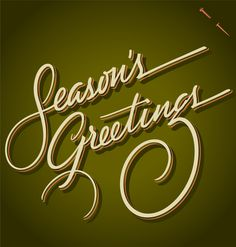 Christmas Greetings by the Fontmaker , via Behance
