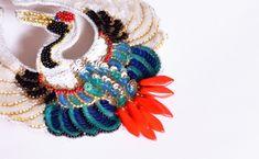 オートクチュール リュネビル刺繍 スパンコールの鶴