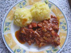 Petra, Mashed Potatoes, Beef, Ethnic Recipes, Ox, Shredded Potatoes, Steak