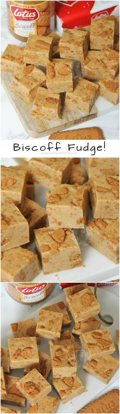 Biscoff Fudge! ❤️ A Delicious and Super Easy to make Fudge Recipe absolutely brimming with the delicious Lotus Biscoff flavour.