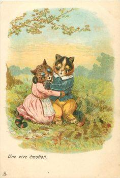 Postcard by Louis Wain