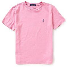 Ralph Lauren Childrenswear Big Boys 8-20 Short-Sleeve Crewneck Tee ($15) ❤ liked on Polyvore featuring shirts