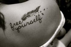 freedom, feather, birds. a tattoo I would actually consider getting.