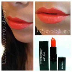 Looks By Luann: Perfect Red-Orange Lip For Summer #inglot #lipstick #makeup #looksbyluann #redlip