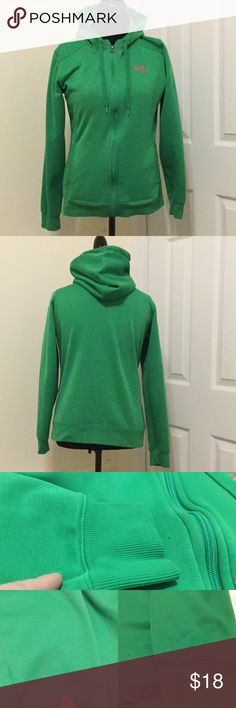"""UA Semi Fitted Jacket In good condition but has 3 small snags (holes). Staining and slight discoloration on sleeves. All these flaws are shown in 3rd picture. Overall very nice jacket! Measures 19 1/2"""" armpit to armpit and 23"""" shoulder to hem. Smoke free home. Under Armour Jackets & Coats"""