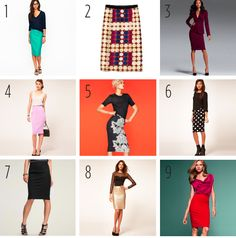 Pencil skirts! Love them for work, they look good on just about anyone, and can be paired with different shirt styles, even basic t-shirts, to make a quick office casual look!