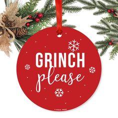 Vinyl Christmas Ornaments, Cricut Christmas Ideas, Grinch Ornaments, Funny Ornaments, Xmas Ideas, Gift Ideas, Grinch Christmas Decorations, Christmas Wreaths, Christmas Crafts