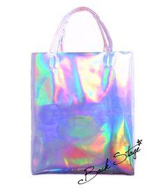 Limited Edition - 2.0 Handmade Hologram Holographic Metallic Mirrors Clutch Handbag Tote Bag