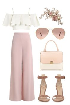 """Needed me"" by skajackson on Polyvore featuring Topshop, Gianvito Rossi, Zimmermann and Ray-Ban"
