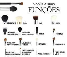 Pincéis de maquiagem e suas funções - COQUETEL FASHION