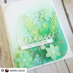 "1,117 Likes, 44 Comments - Concord & 9th (@concordand9th) on Instagram: ""This card by Adelle @adelle.naylor using our Just Because stamps & Just Because dies is ! …"""
