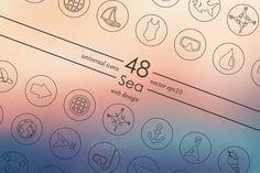 48 Sea icons by Palau on Creative Market
