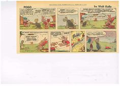 Pogo Comic Original Newspaper strip by Walt Kelly February 15 1970 Miss Peach