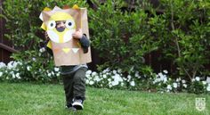 DIY Printable paper bag costumes from Wee Alphas - Fun for any day (not just Halloween)