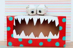 Tattle Monster: I will soooo do this for Halloween! I'll put candy inside so the kids have to grab it out of the monster box! Tattle Monster, Monster Box, Monster Party, Monster Munch, Monster Face, Tissue Box Crafts, Tissue Boxes, Tissue Paper, Kids Crafts