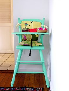would love to redo and old high chair like this