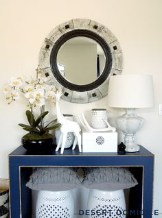 DIY HomeGoods Console Table Makeover
