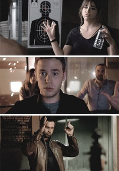 Expressions and gestures when everything may go BOOM. Marvel's Agents of S.H.I.E.L.D.