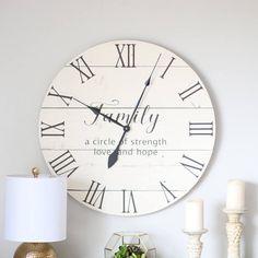 Family clock. Family sign. Wall clock. Farmhouse clock. Rustic