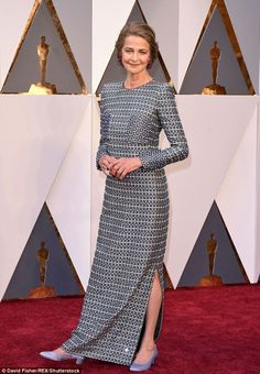 Been a journey: Charlotte Rampling stepped out on the red carpet at the Oscars on Sunday a...