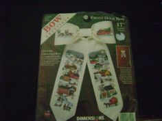 Dimensions 8541 Counted Cross Stitch Kit Charles Wysocki Country Christmas Bow | eBay