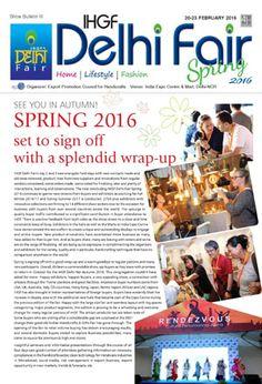 IHGF Delhi Fair, Spring 2016 - Show Bulletin 3 #ihgf #tradeshow