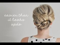 Easier Than it Looks Updo (The Small Things Blog) #TUTORIAL #thesmallthingsblog #hairstyle #howto #weddinghair