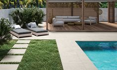 Just in time for summer... create a patio with Unicom Starker's porcelain tile. Available at World Mosaic Tile in Vancouver.