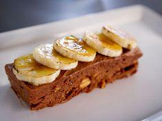 Parfait glacé au chocolat et aux arachides, bananes caramélisées #dessert