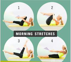Consider a MORNING & EVENING STRETCH to help you de-stress:  Begin and end your day with some gentle stretching to relax and release tired muscles, improve circulation and range of motion. Just a few minutes each morning and evening can make an impact on your day.