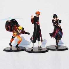 Anime  Naruto Action Figure Toys 1set=Uzumaki Naruto + Pain + Uchiha Sasuke PVC Action Figure Model Toys  Free Shipping - Animetee