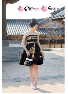 Short Modern Hanbok Dress 11