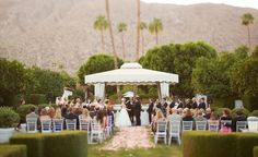 PALM SPRINGS WEDDING: COLORFUL WHIMSY AT THE VICEROY   Viceroy Palm Springs wedding ceremony     www.palmspringsstyle.com  Images @ Annie McElwain  Event Design: Green Ribbon Party Planning Co.